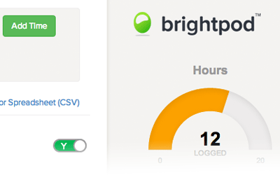 Real-time time tracking charts in Brightpod