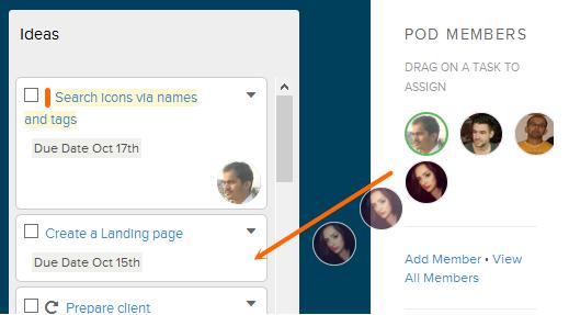 Brightpod - Assign a Task to Pod Member
