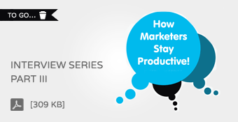 Brightpod: How Marketers Stay Productive - Interview Series Part III
