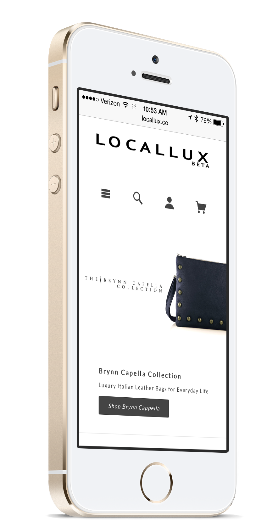 LocalLux with Gold iPhone