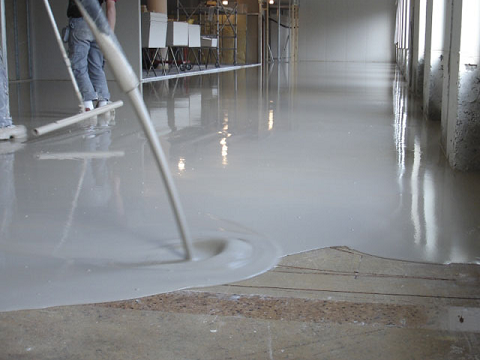 Floor industrial flooring for Concrete floor leveling