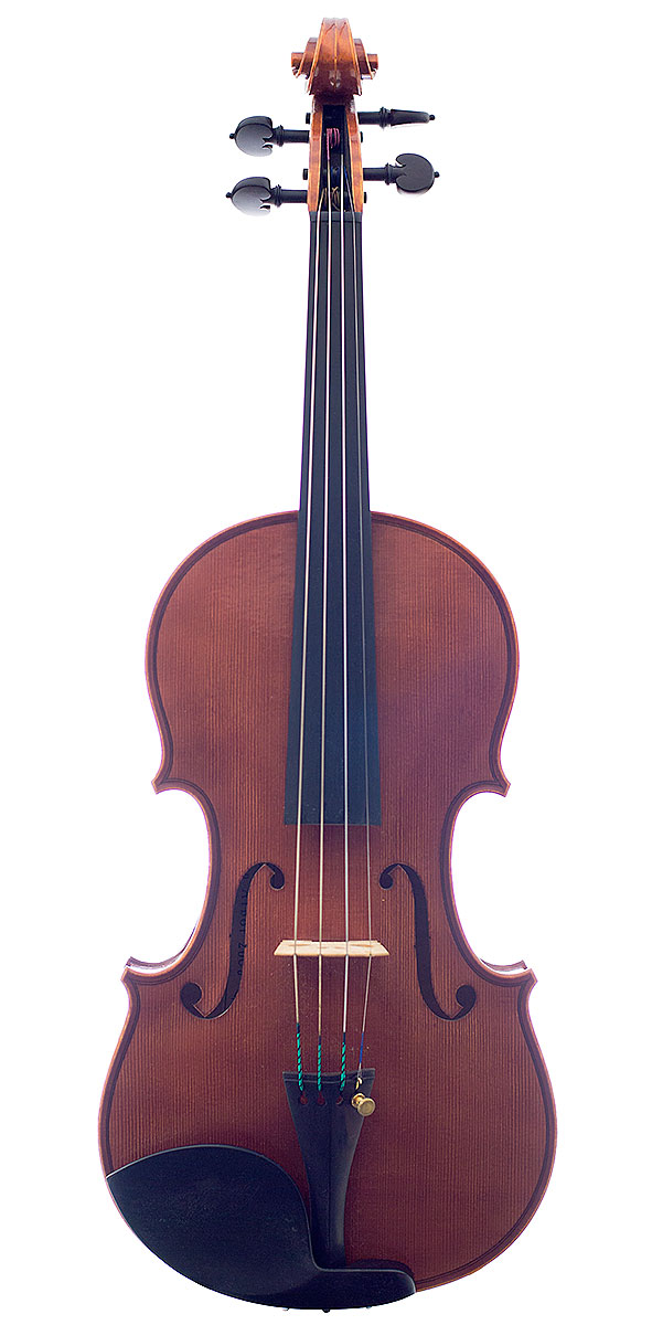 Front of David Burgess's 2008 violin