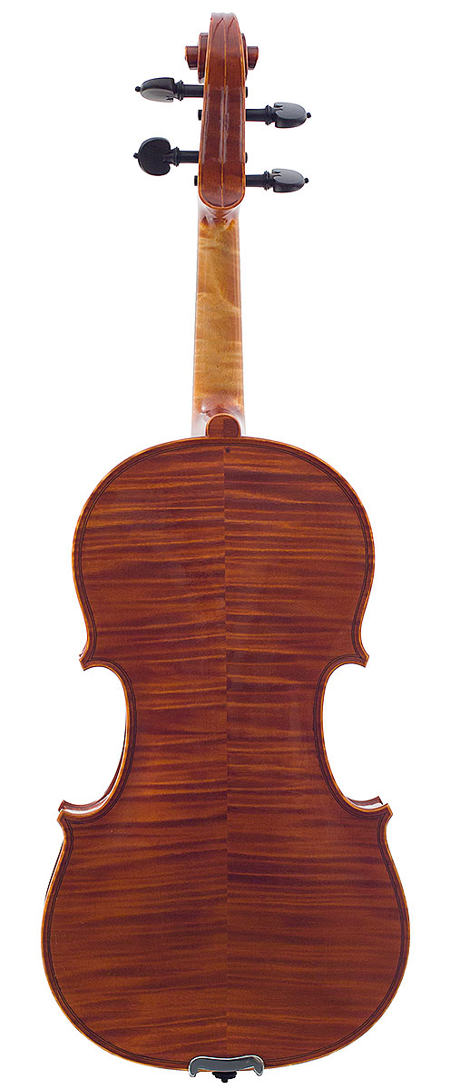 Back of  David Burgess's 2008 violin