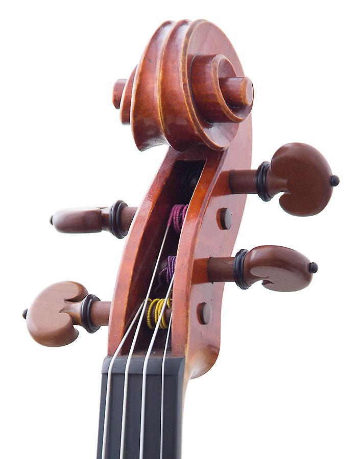 Scroll, David Folland 2000 Stradivari model violin