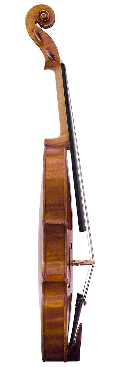 Side of Nicolas Gilles's 2006 Stradivari model violin