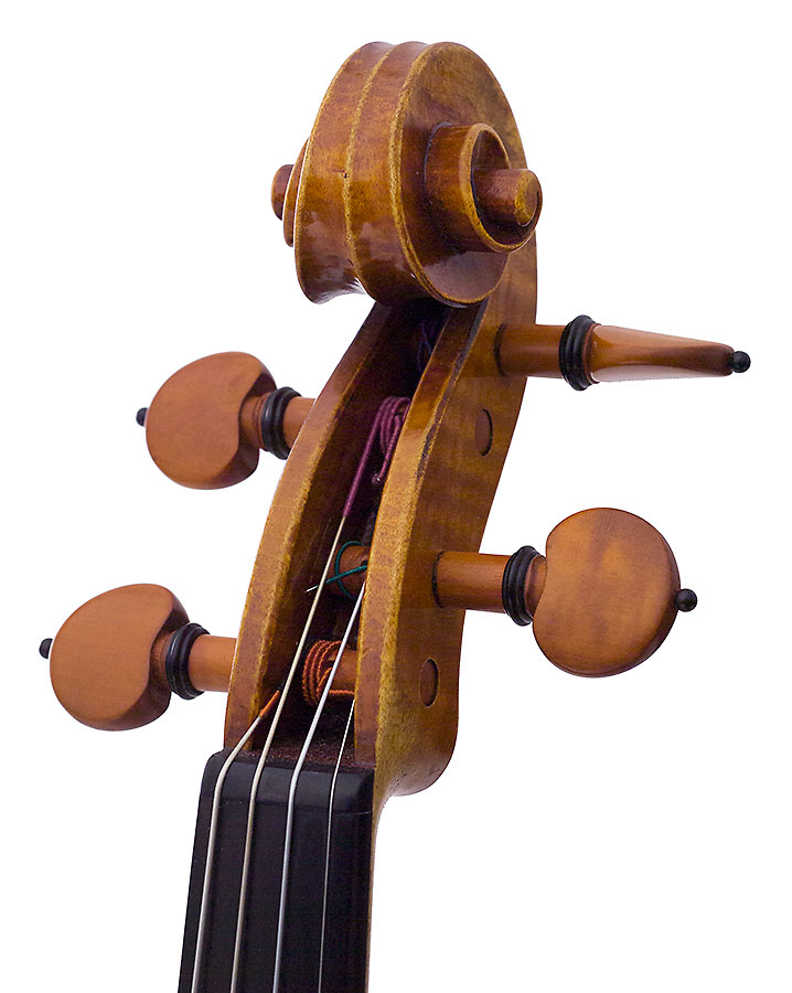 Scroll, Nicolas Gilles's 2006 Stradivari model violin