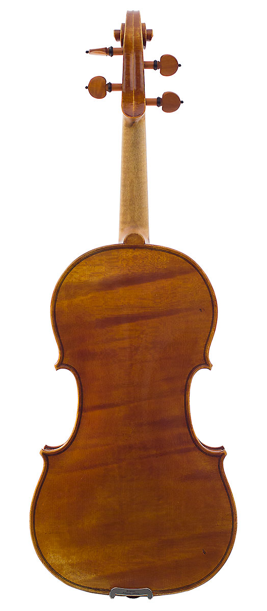 Back of Nicolas Gilles's 2006 Stradivari model violin