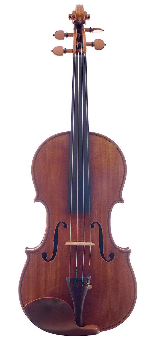 Front of Nicolas Gilles's 2006 Stradivari model violin