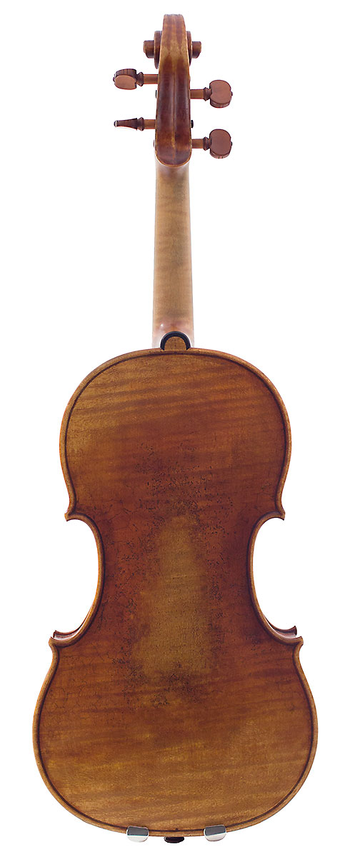 Back of David Gusset's 2009 Guarneri model violin