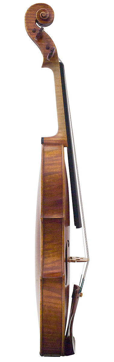 Side of David Gusset 2009 Guarneri model violin