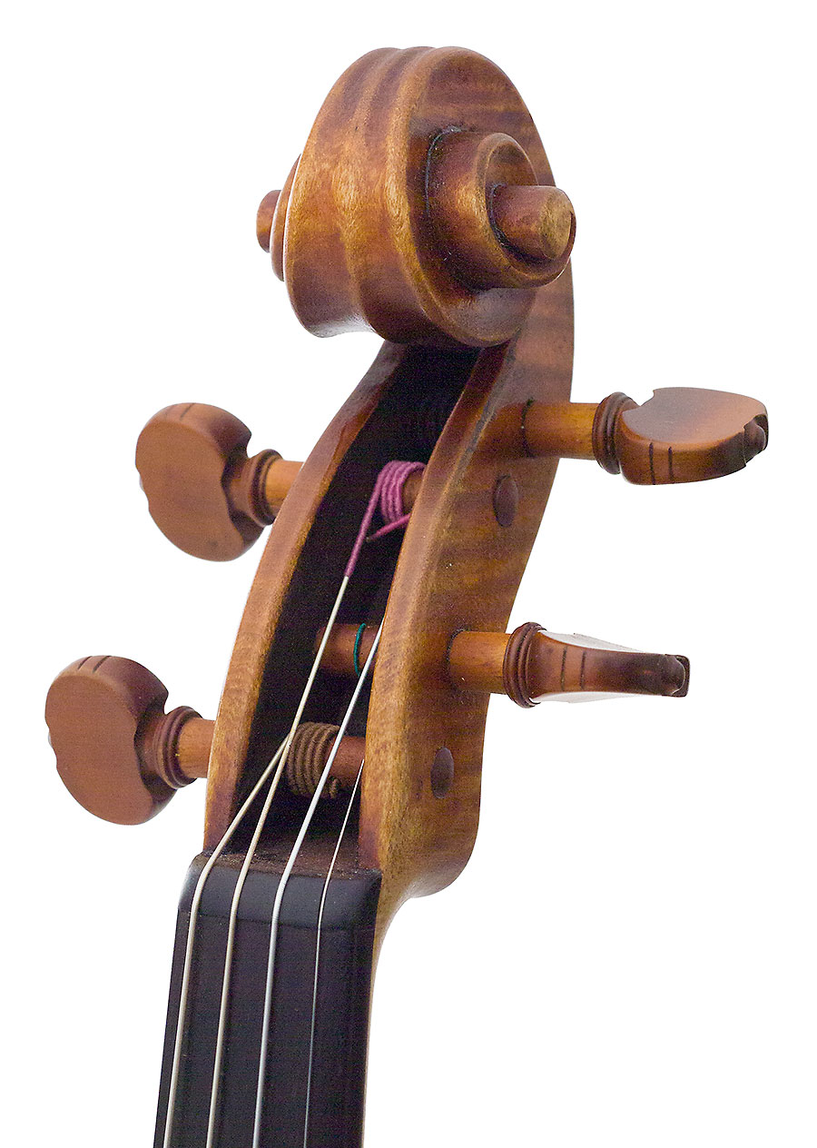 Scroll, David Gusset 2009 Guarneri model violin