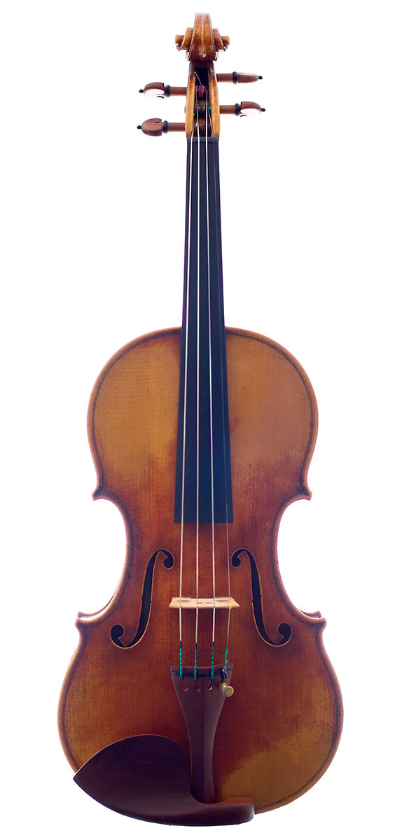 Front of Feng Jiang's 2012 Guarnero model violin