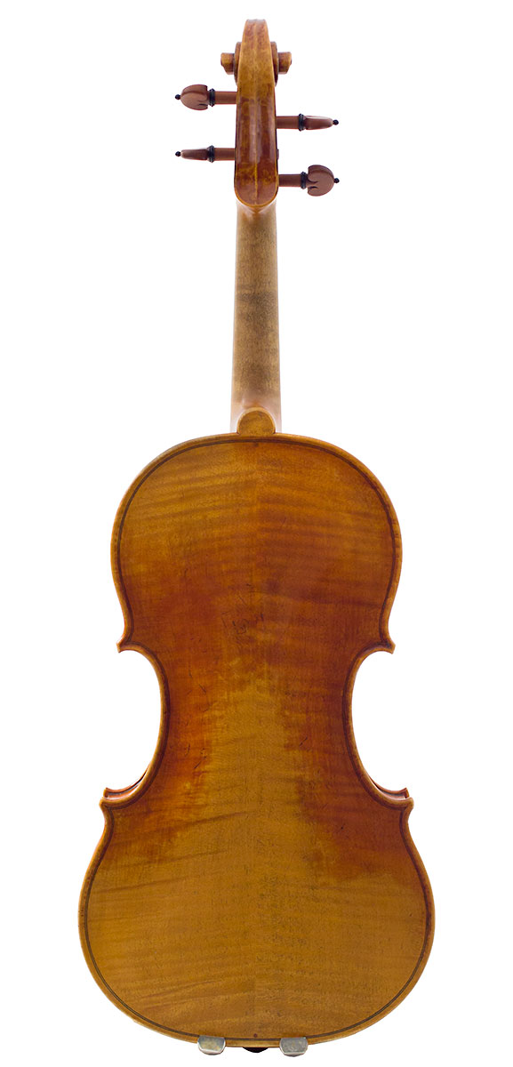 Back of Feng Jiang's 2012 Guarneri model violin