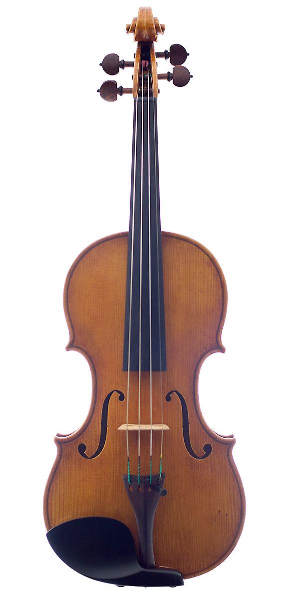 Front of Howard Needham's 2005 Guarneri model violin