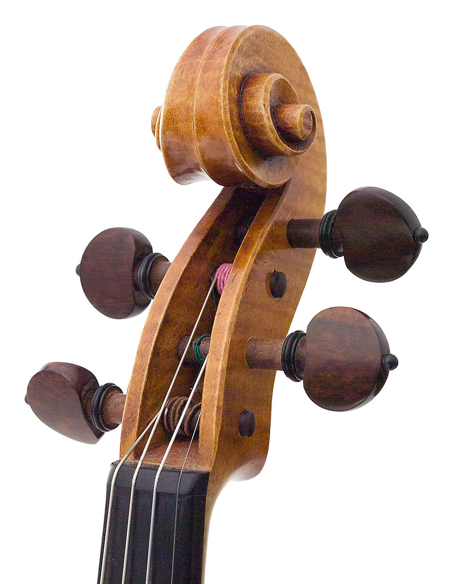 Scroll, Howard Needham's 2005 Guarneri model violin
