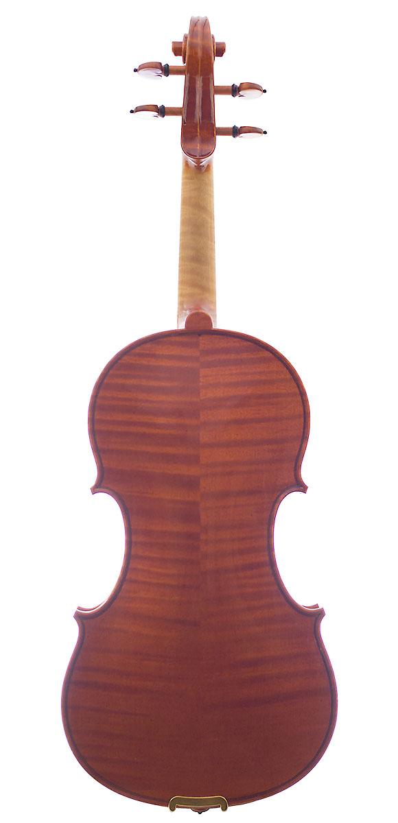 Back of Raymond Schryer's 2011 Stradivari model violin