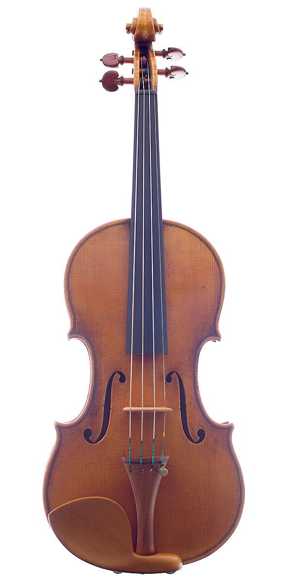 Front of Kurt Widenhouse's 2007 Guarneri model violin