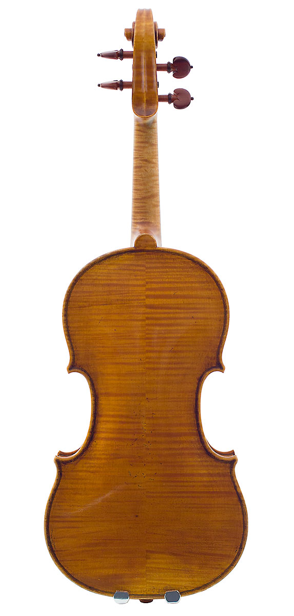 Back of Kurt Widenhouse's 2007 Guarneri model violin
