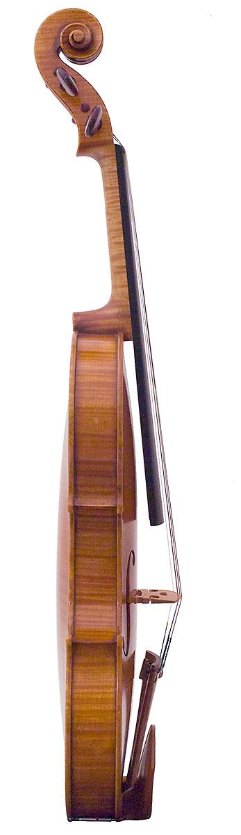 Side of Kurt Widenhouse's 2007 Guarneri model violin