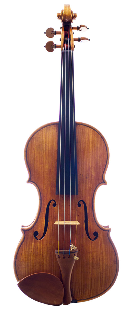 Front of Terry Borman's 2011 Guarneri model violin