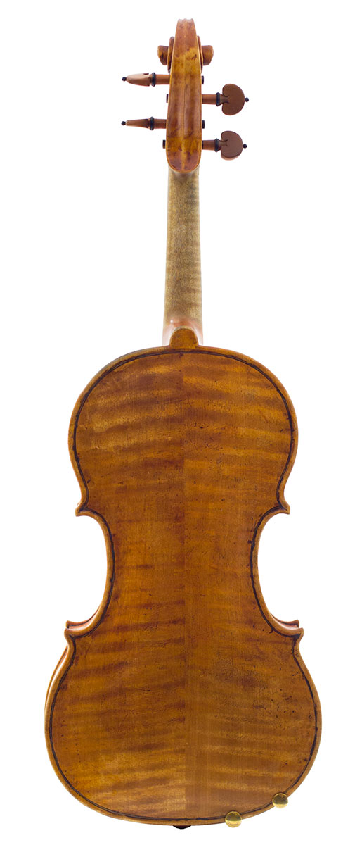 Back of Terry Borman's 2011 Guarneri model violin