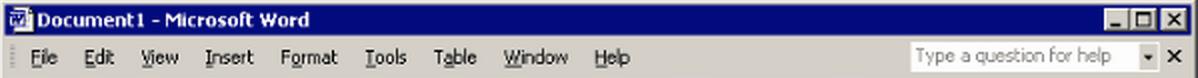 Microsoft Word's menu bar