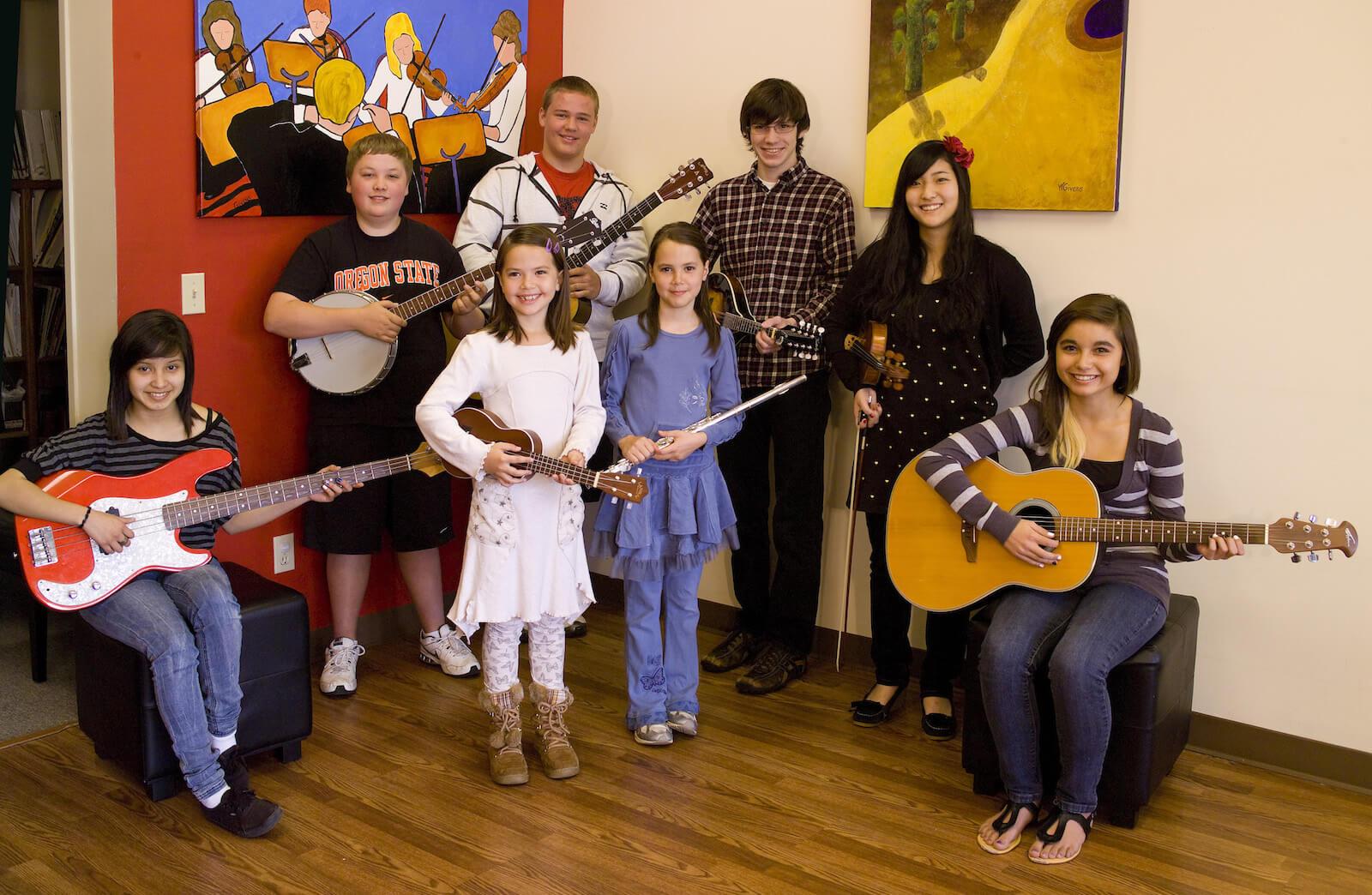 Music lessons, summer camps, violin rentals, viola rentals, cello rentals, bass rentals.
