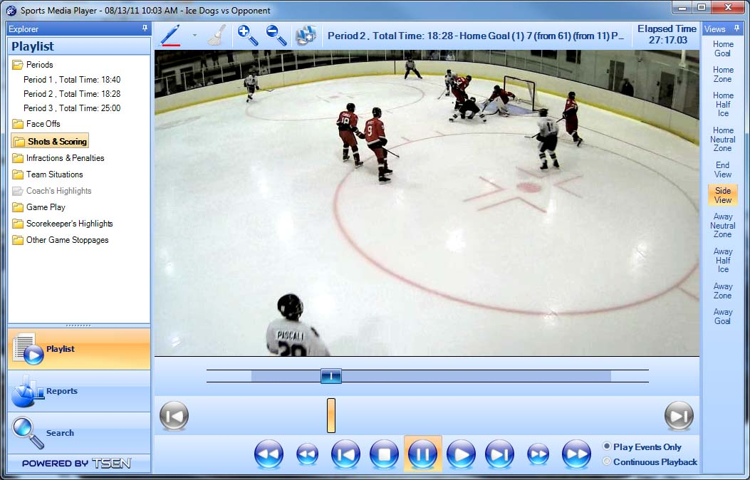 InThePlay Sports Media Player