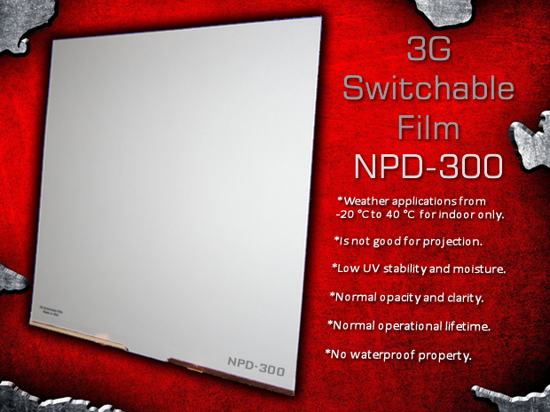 3G Switchable Film / NPD-300