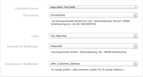 Angebots-PDF Gestaltung