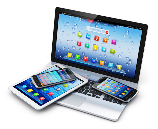 Laptop, smartphone, iphone, android, tablet