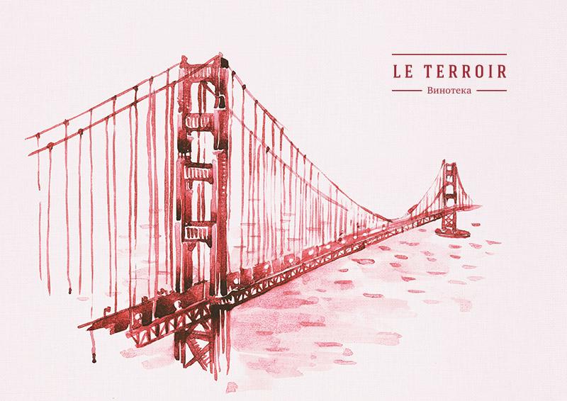 Винотека Le Terroir. Рекламные принты. Креативное агентство FB2B