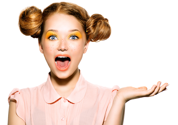 Photo of a surprised girl