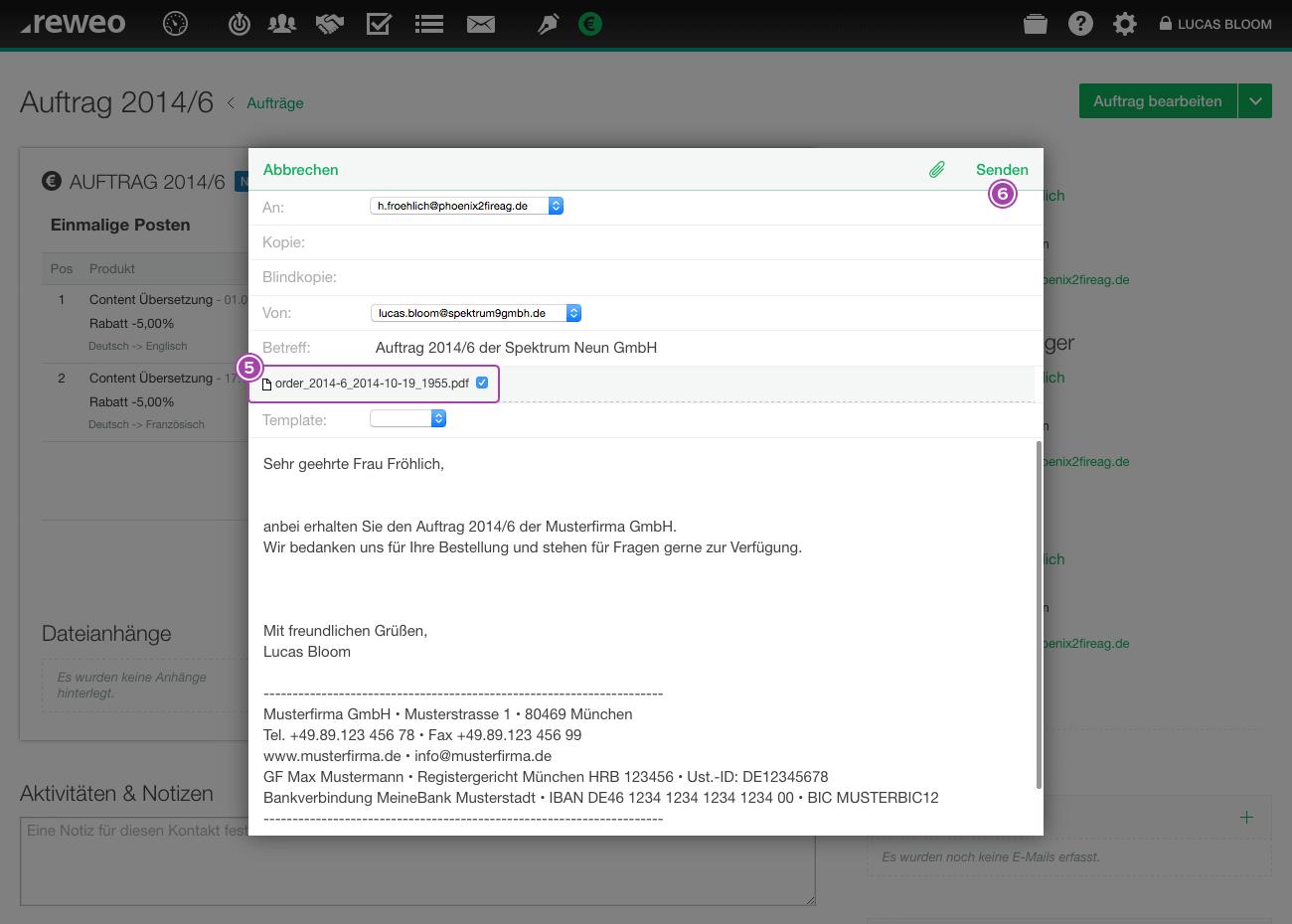 Auftrag Email verfassen