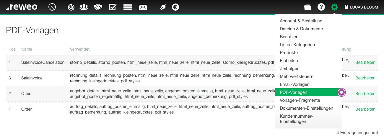 PDF-Vorlagen