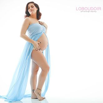 maternity boudoir photograph