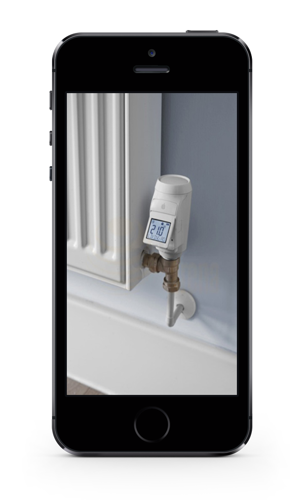 Mobile phone with radiator valve picture