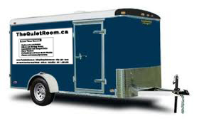 trailer used to transport our acoustical panels made in toronto canada