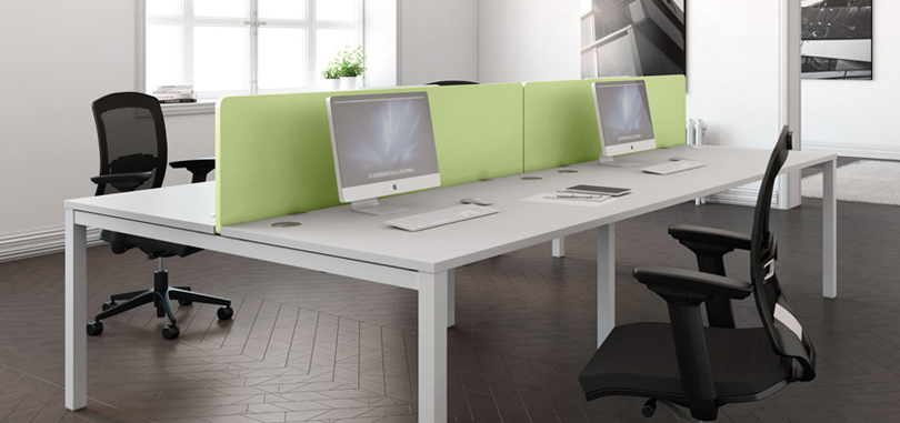 acoustic desk partitions for desks in the office
