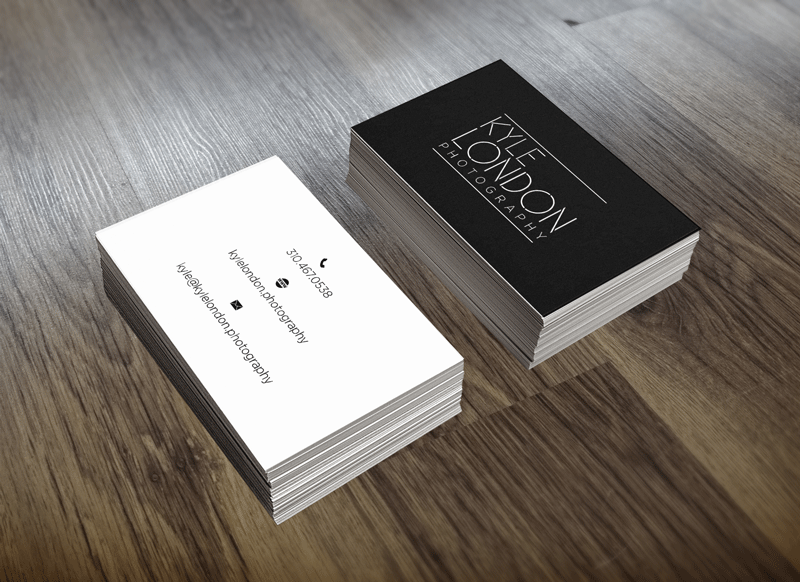 santa barbara business card design