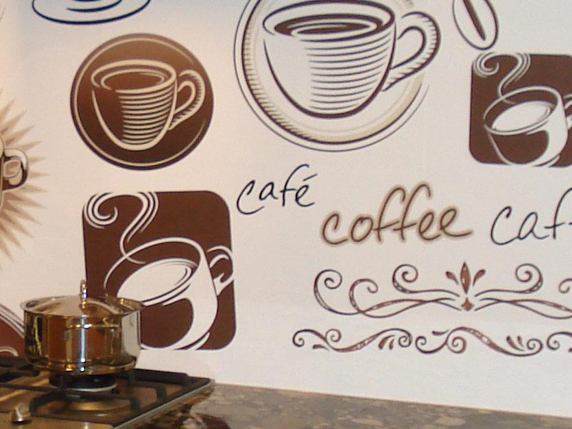 Cappuccino italiaanse keukenachterwand