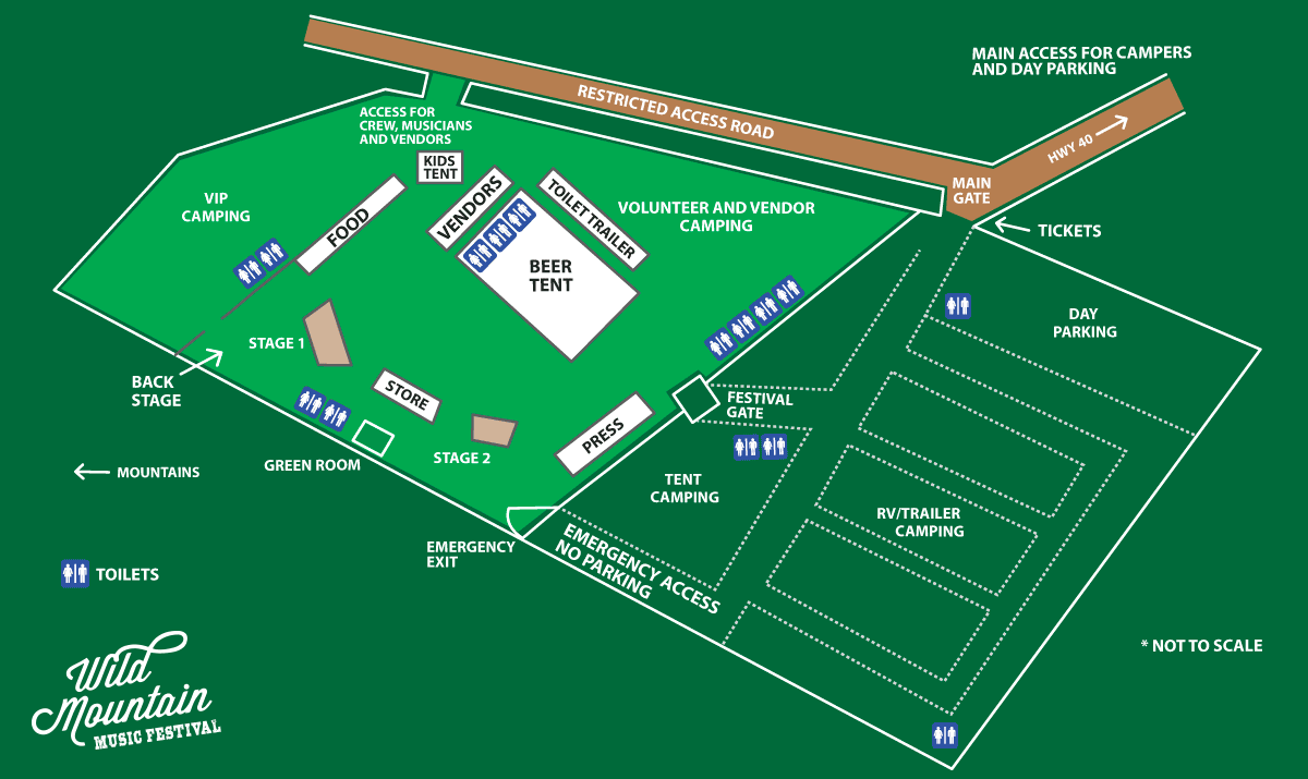 Wild Mountain Music Festival Site Map