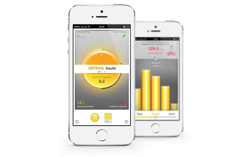 iPhone-App zur Visualisierung solarthermischer Erträge
