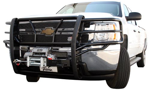 Truck with Brush Guard