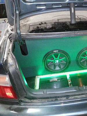 Trunk Audio with LED Lighting