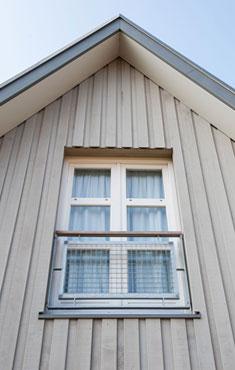 Nieuwbouwhuis met hout betimmert