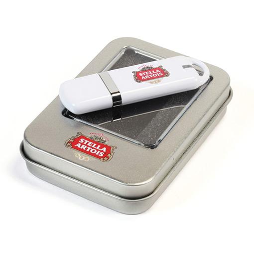 Металлическая коробка для USB флешки