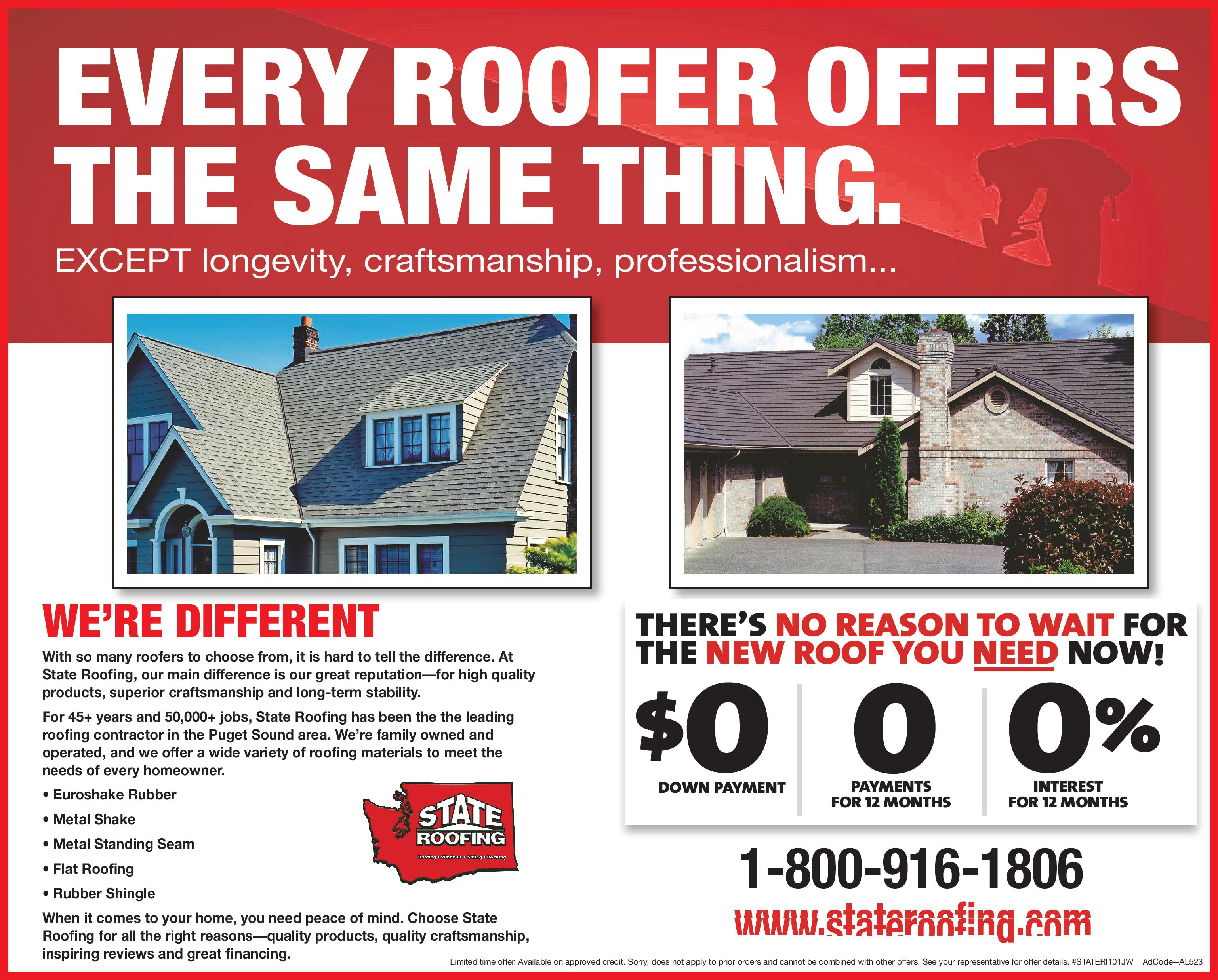 State Roofing - Current Offers