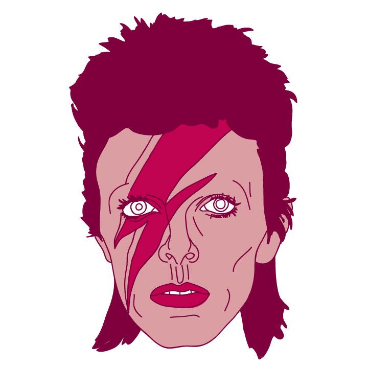 David Bowie Floating Head - Mychal Handley