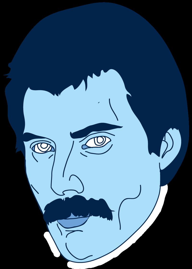 Freddie Mercury Floating Head - Mychal Handley